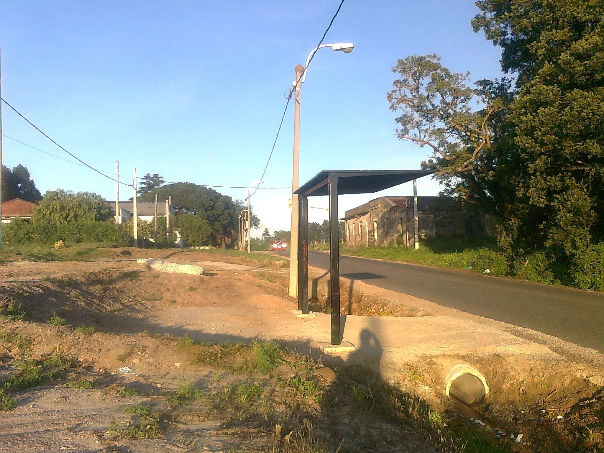 2 parada de bus en zona rural